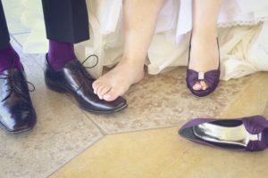 pieds de la mariée